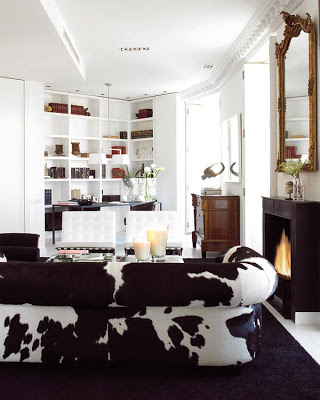 cow-hide-black-and-white-sofa-room-accents-living-eclectic-home-decor-ideas