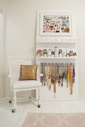 DIY Jewelry Wardrobe Unit