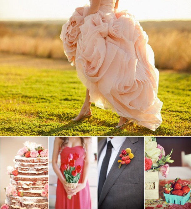 strawberry-wedding-color-inspiration-board