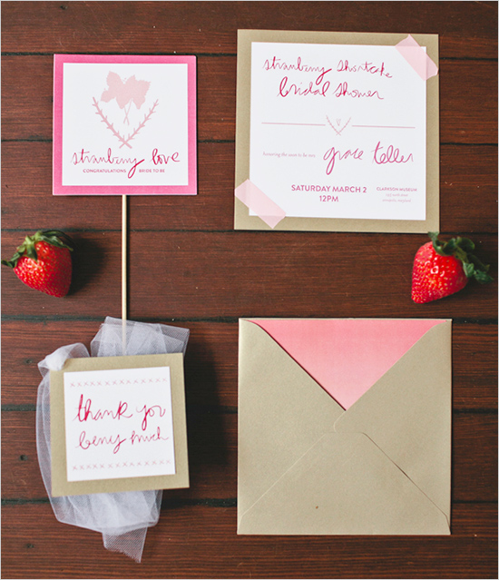strawberryweddinginvite