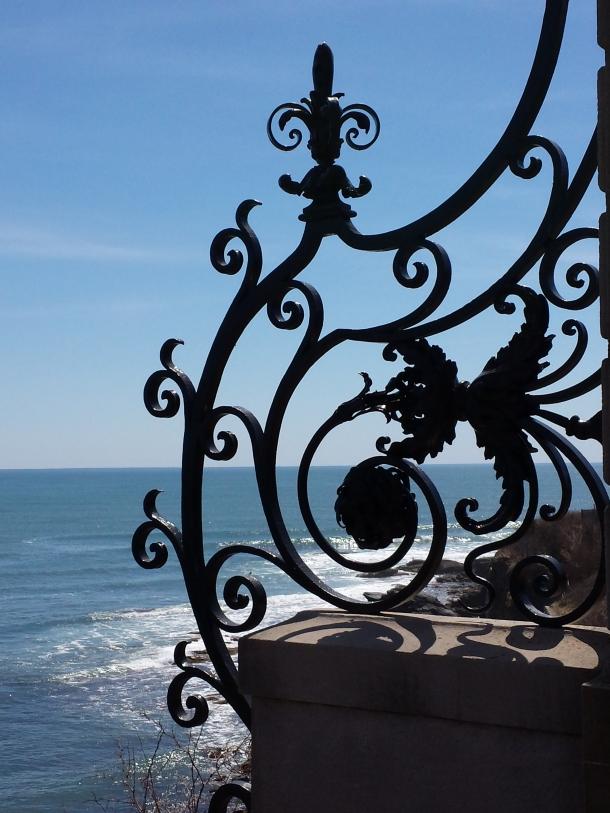 ironwork coastal view