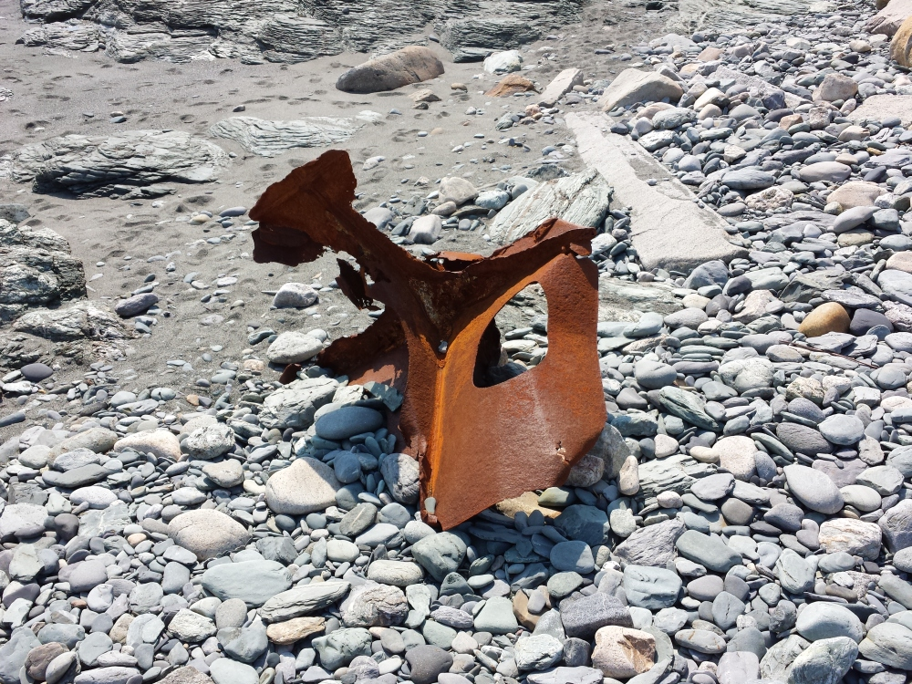 washed ashore piece of metal