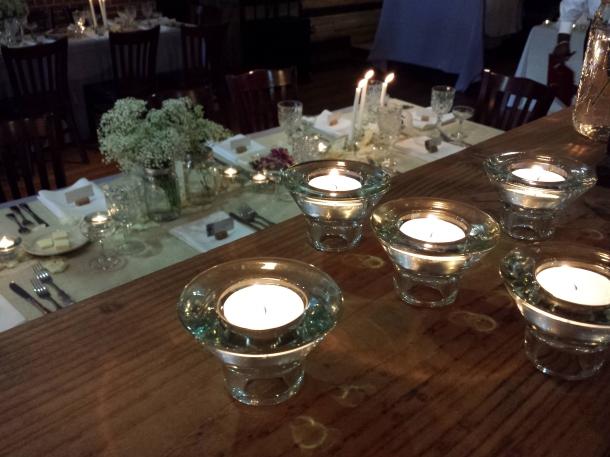 romantic candlelit wedding