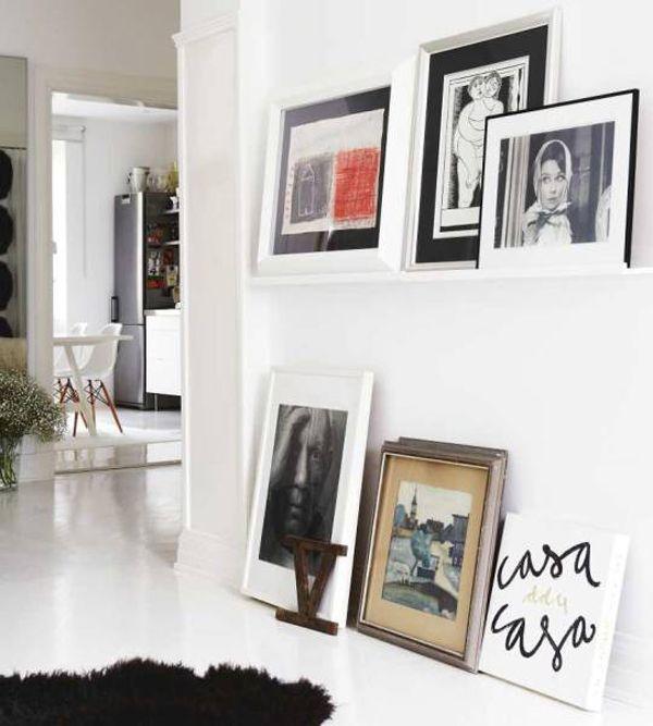 gallery wall on floor