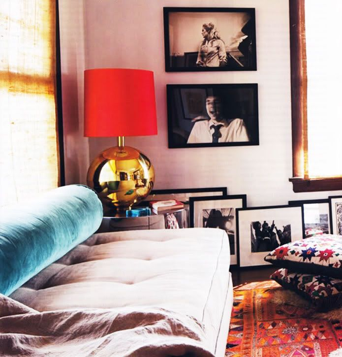 save your walls by layering your artwork on the floor