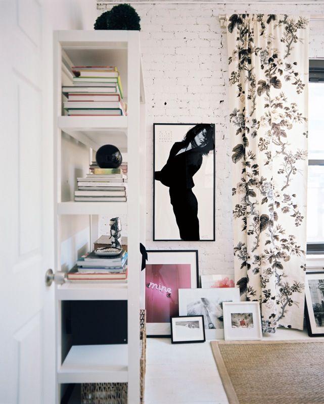 framed artwork gallery wall on floor
