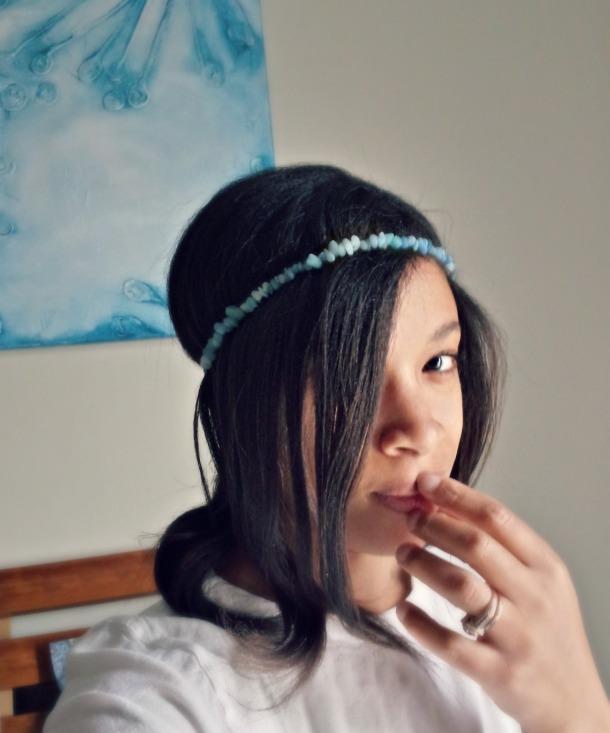 DIY Semi Precious Stone Headband Close Up