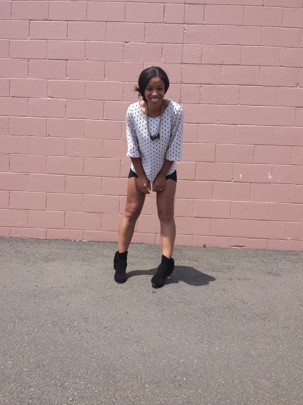 Polka Dots and Short Shorts Street Style 2