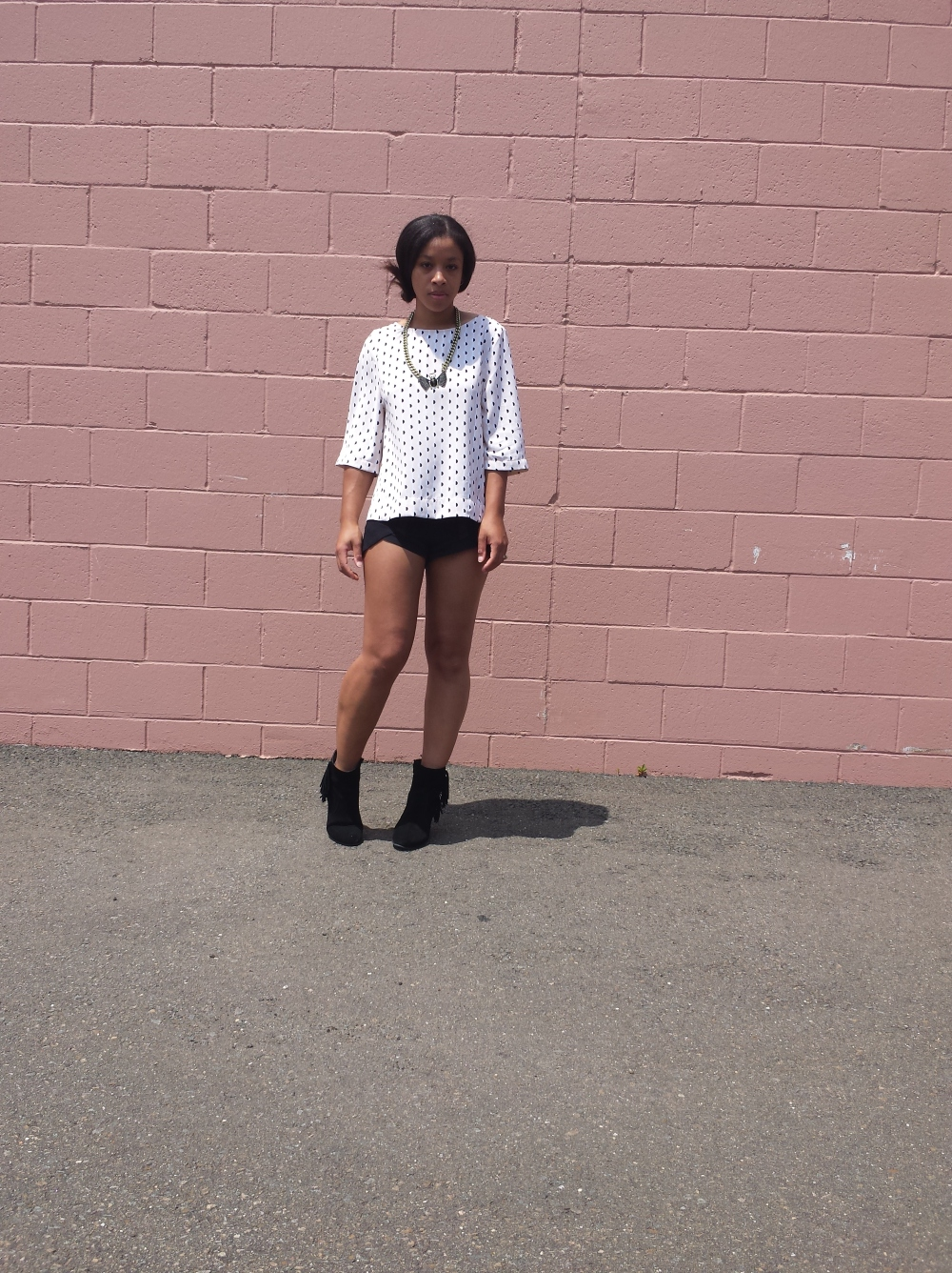 Polka Dots and Short Shorts Street Style 1