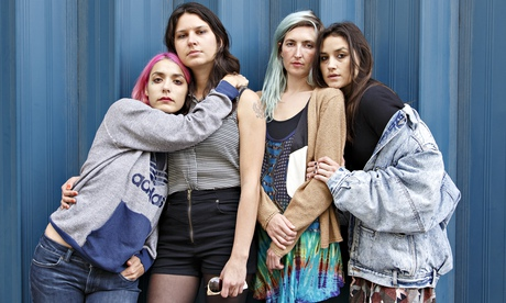 Jenny Lee Lindberg, Stella Mozgawa, Emily Kokal and Theresa Wayman of Warpaint