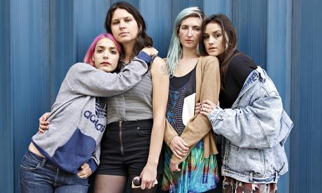 Jenny Lee Lindberg, Stella Mozgawa, Emily Kokal and Theresa Wayman of Warpaint