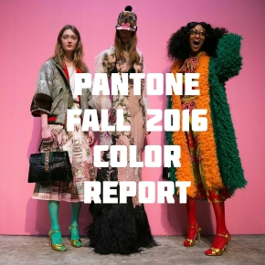 Pantone Fall 2016 Color Report