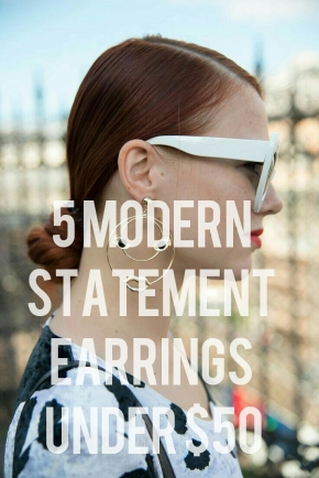 5 Modern Statement Earrings Under $50