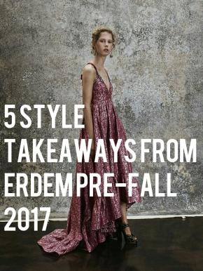 5 Style Takeaways From Erdem Pre-Fall2017