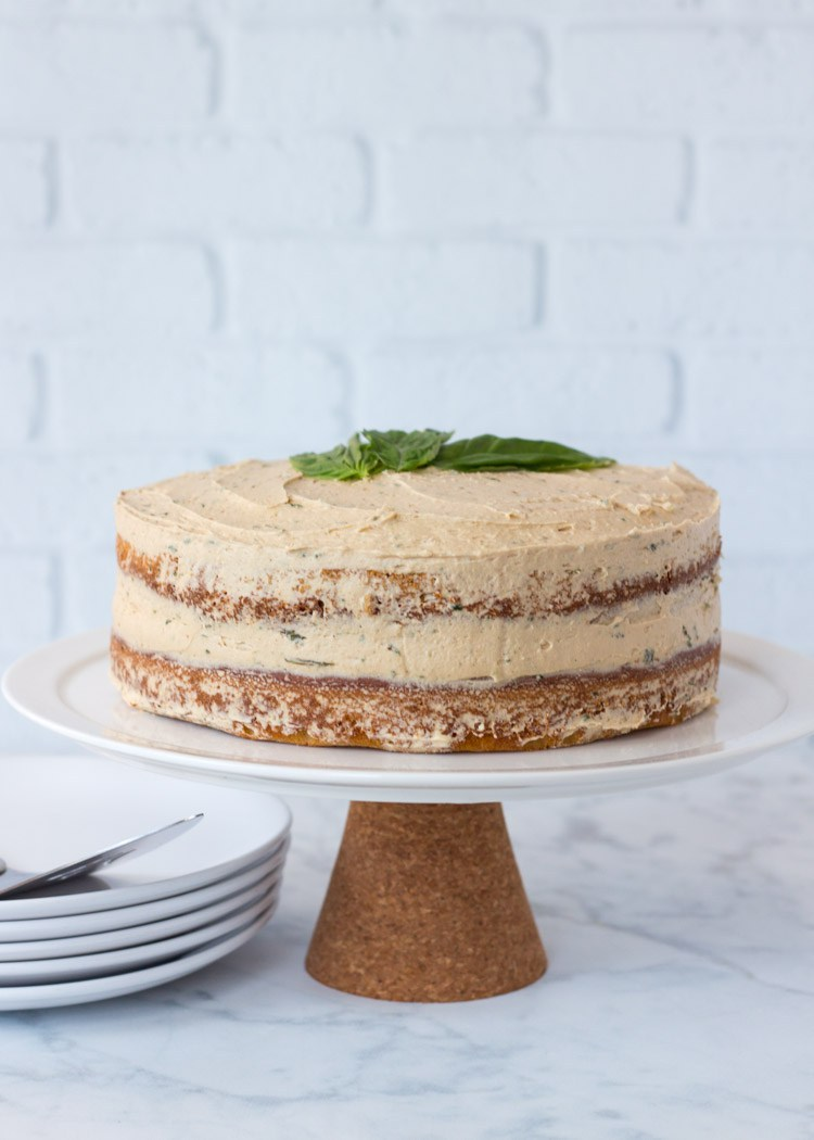 Coffee Basil Layer Cake