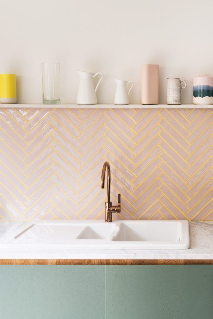 interior-trends-zellige-tiles-decor-2020-Splash-baxk-with-style-simple-tiles-in-a-warm-pink-with-show-stopping-gold-grouting-inhabithouse-inhabitguestexperience-inhabithostsupport