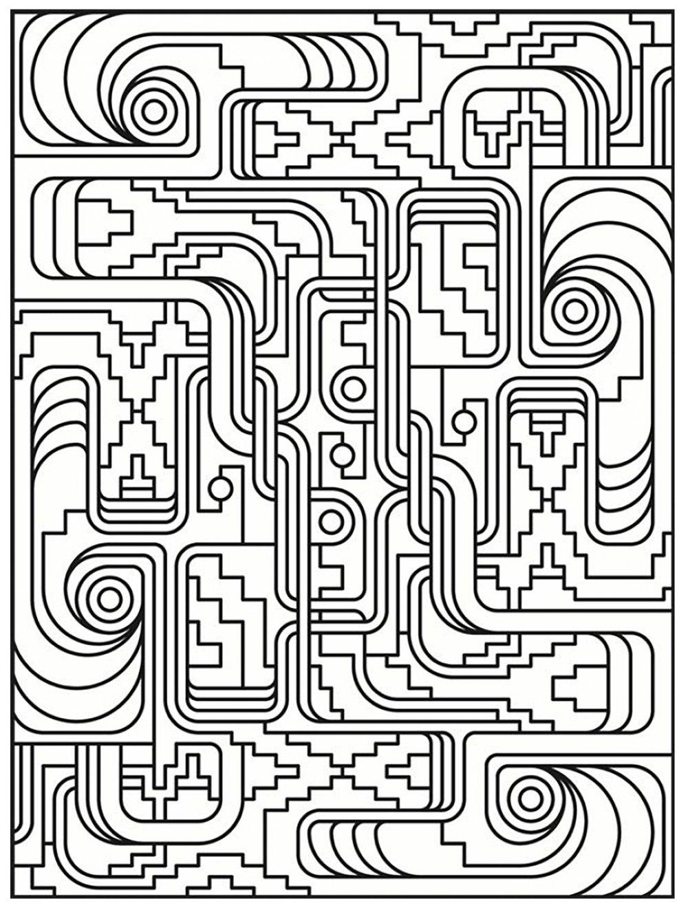 coloring-art-deco-simple-pattern