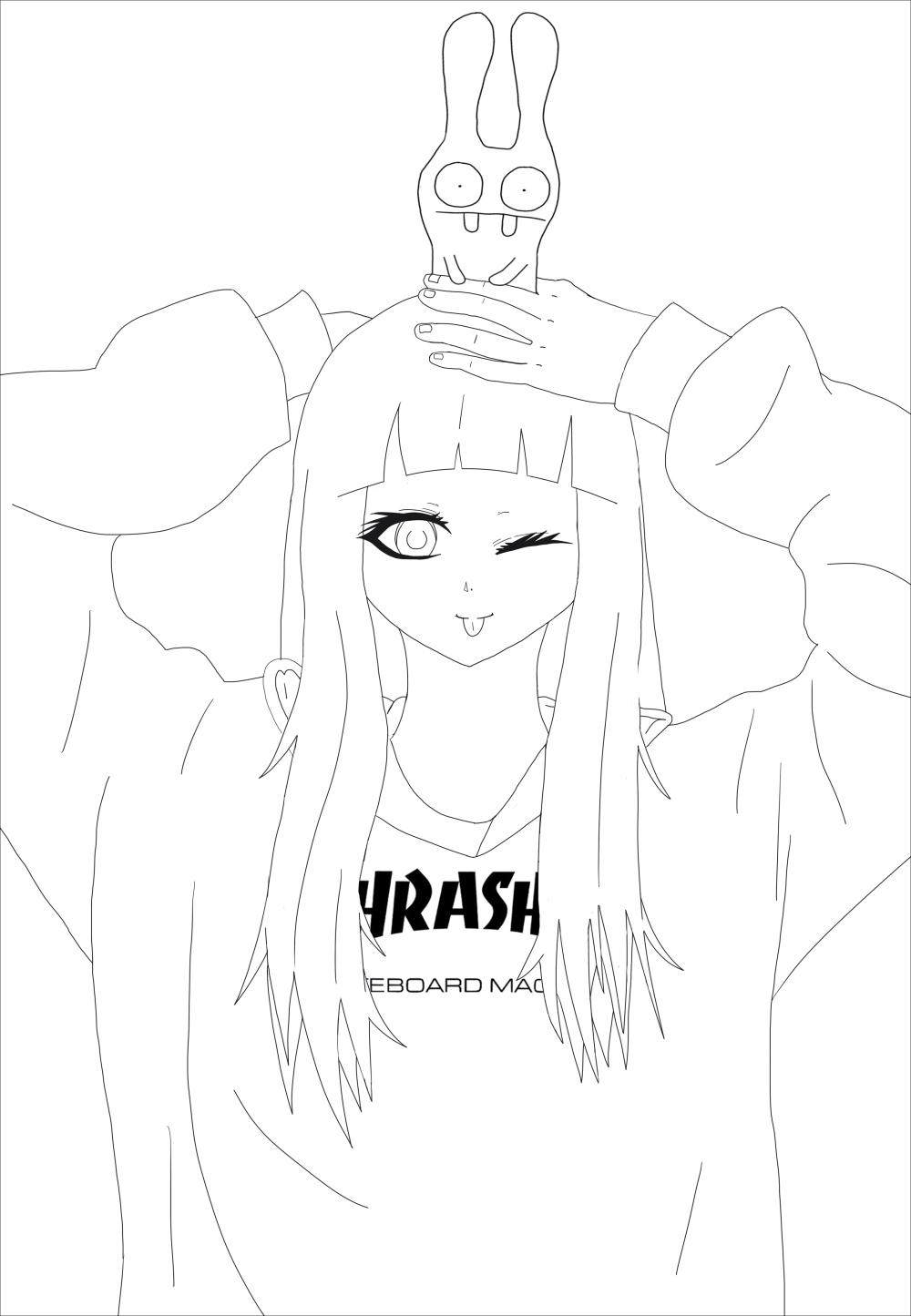 coloring-page-adult-thrasher-girl