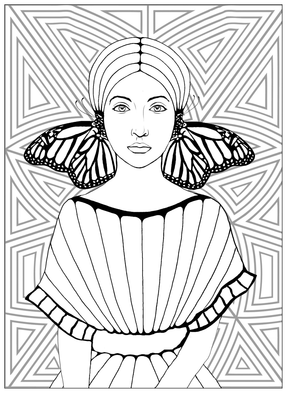 coloring-page-butterflies-girl