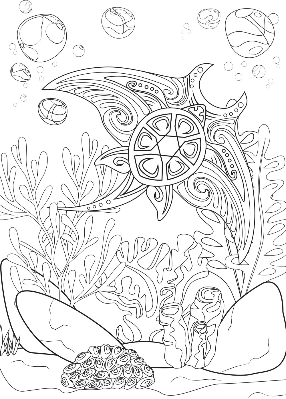 coloring-ray-and-turtle