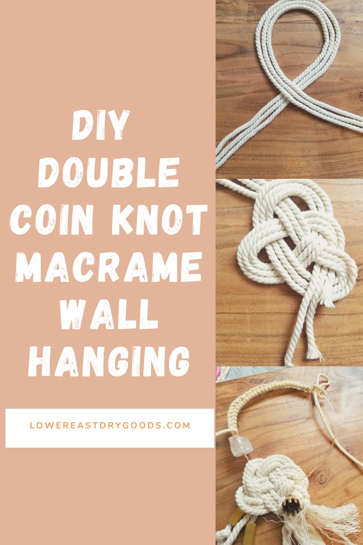 diy double coin macrame wall hanging
